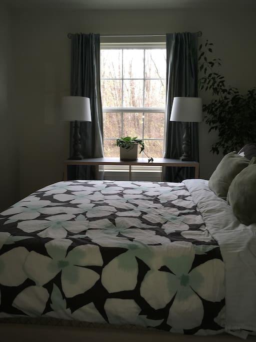 Queen size, premium mattress for a restful sleep.