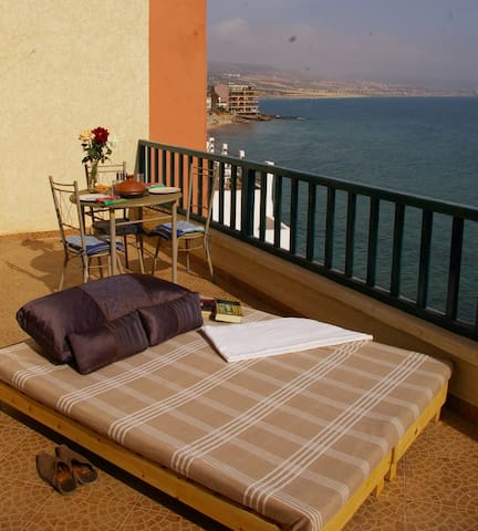 WATERFRONT, SEA VIEW, HUGE TERRACE - Agadir - Apartemen