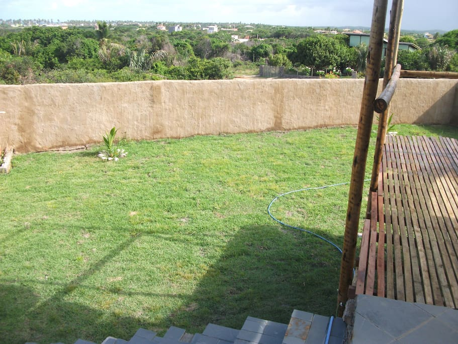 jardin con solarium