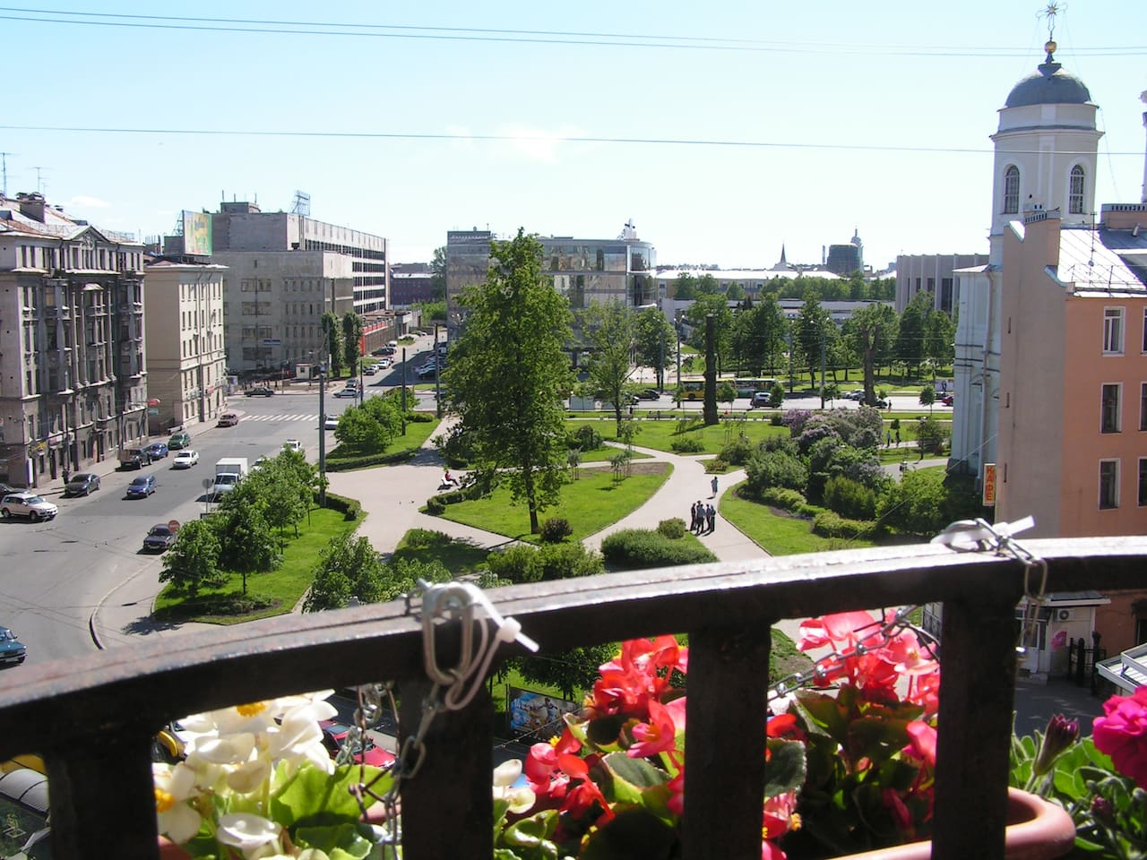 Panoramic view from balcony.