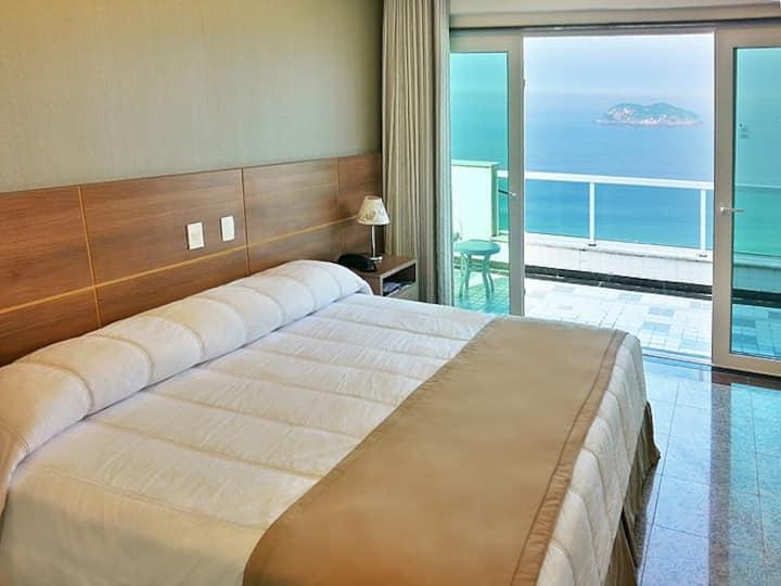 Hotel na praia da Barra da Tijuca quarto familiar