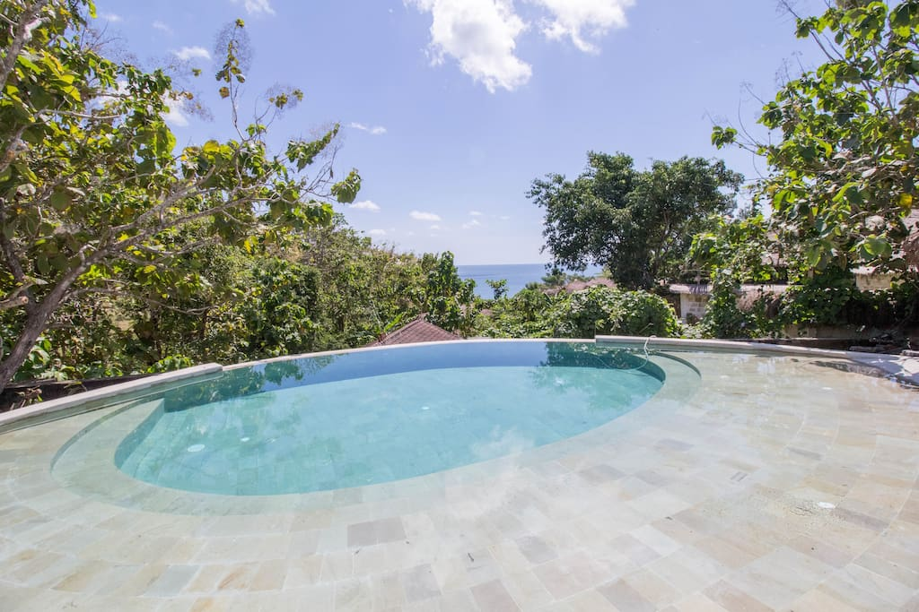 We have a jungle pool just a few steps away from the room now. Common area space.