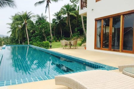 Sea view VILLA 185m² close Bophut and Maenam beach - Ko Samui - Villa
