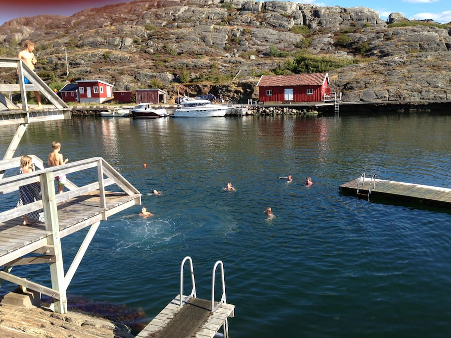 The cosy local harbour is only 500 meters away