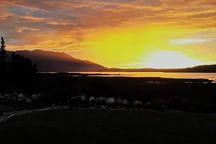 Sunset Lake Brunner, Mountain Views,Trout Fishing
