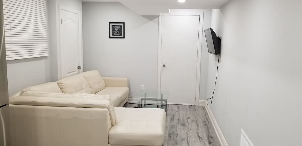 A cozy newly built 2 bedroom basement apartment