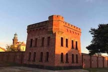 Historic Queenscliff Fort.  Daily tours are available and are so interesting and informative. Put this on your list of 'must do's' when you visit Queenscliff.