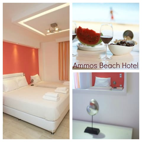 Ammos Beach Hotel 4 People Apt  - Γλύφα - Apartamento