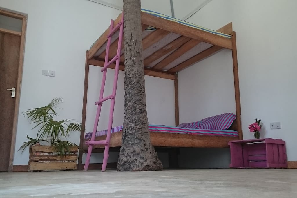 Big bunk bed in the surfer style! Comfortable and stylish.