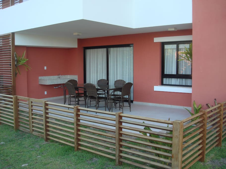 Large covered Terrace and private garden area.