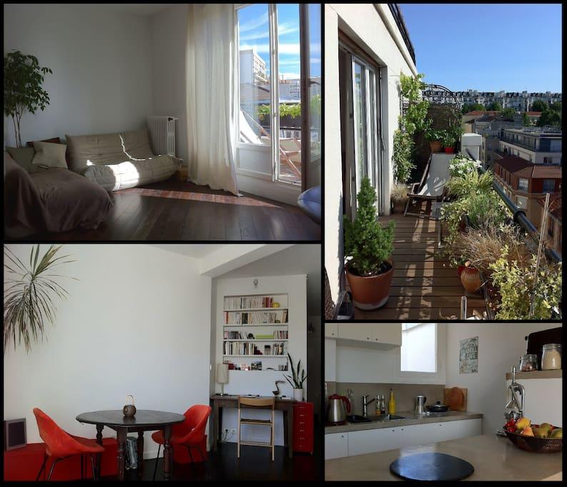 f2 terrasse immeuble art d co apartments for rent in paris le de france france. Black Bedroom Furniture Sets. Home Design Ideas
