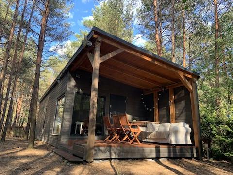 Drewniany domek w Puszczy Noteckiej
