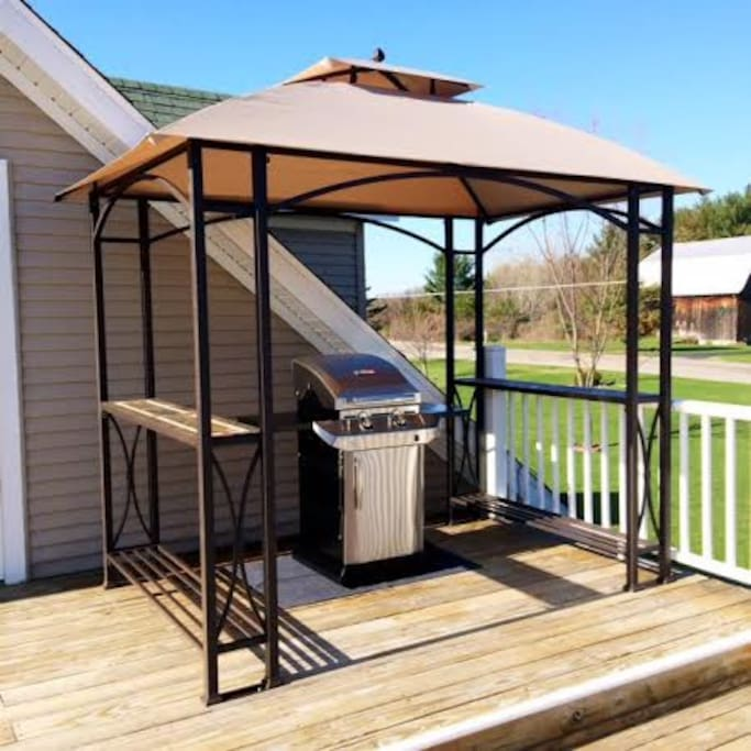 Covered grilling area!