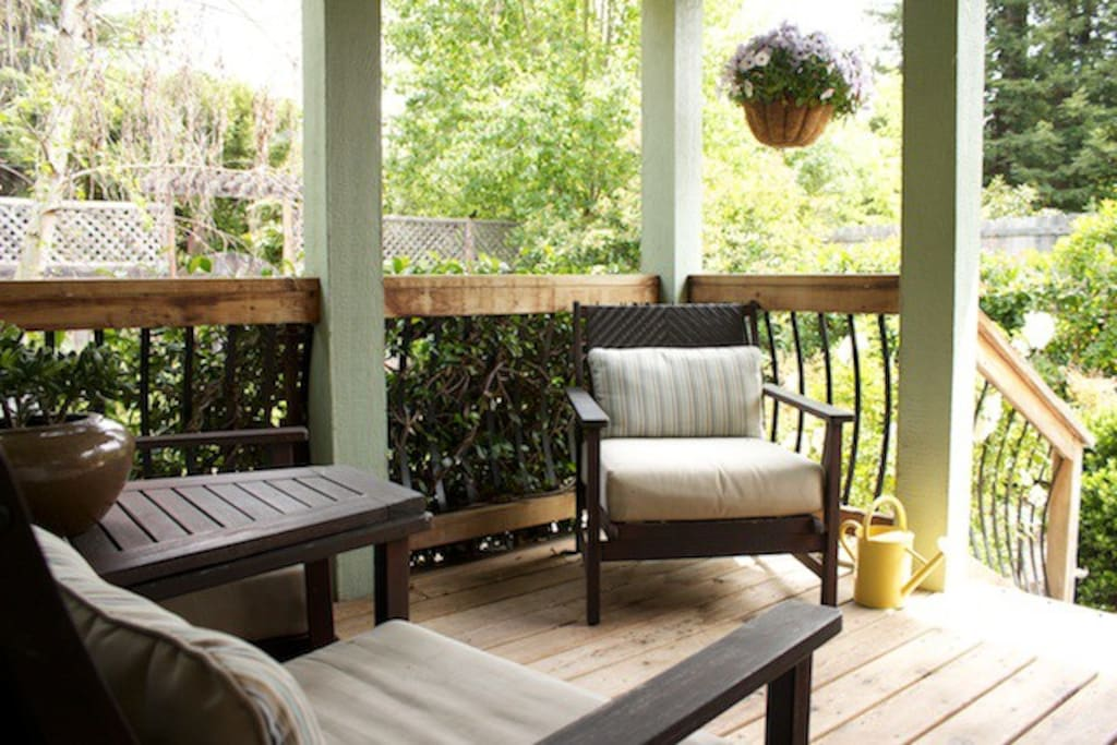 Relax on your porch and visit with the hummingbirds.