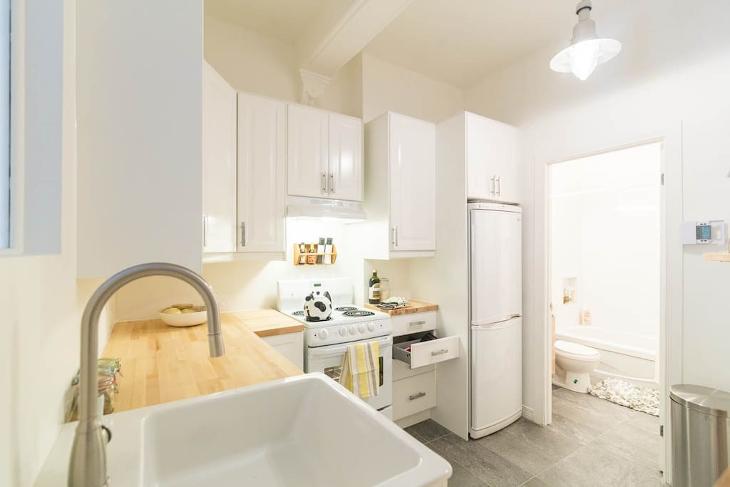 Renovated kitchen with brand new appliances and dishwasher