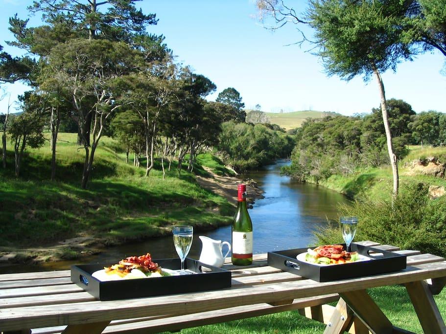 Picnic by the Waitangi River