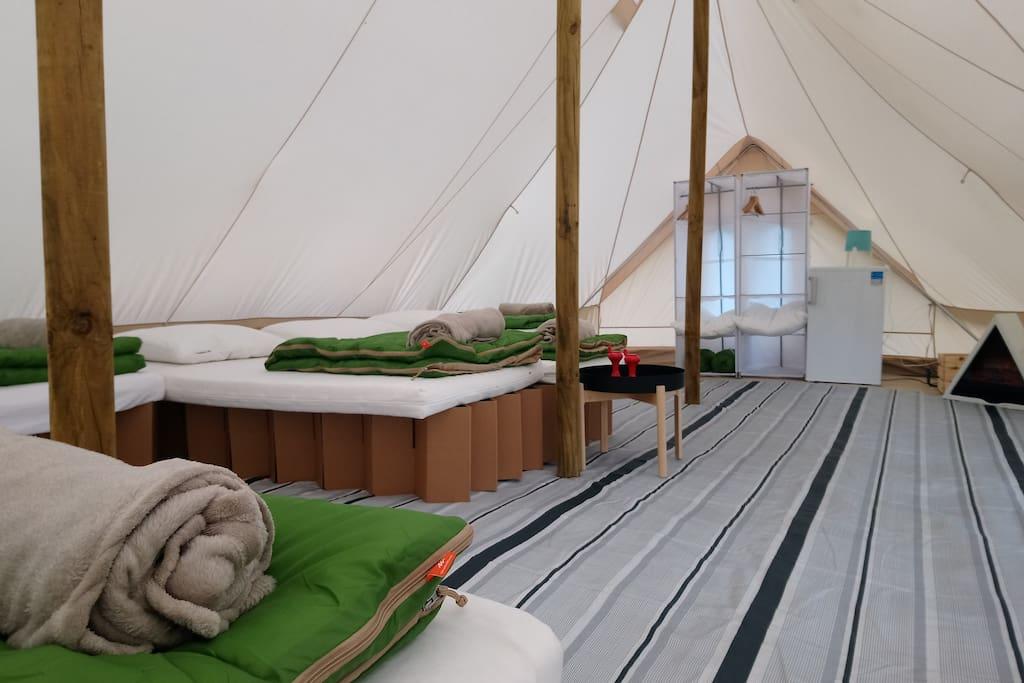 Tente lodge Vanaheim de 40m2
