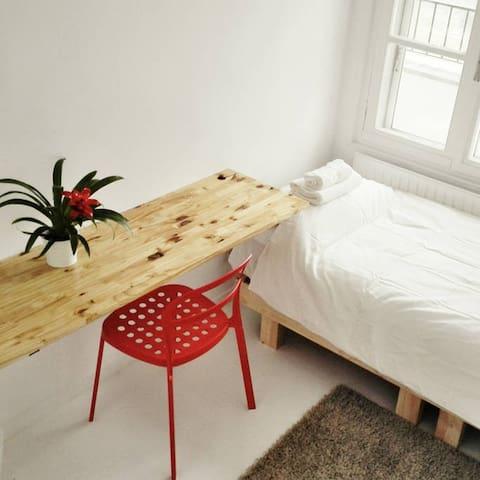 2-Habitación doble con increíbles vistas planta 12 - Madrid - Hus