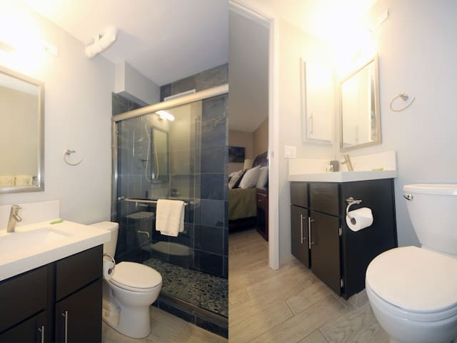 Master bathroom with spa-like features.