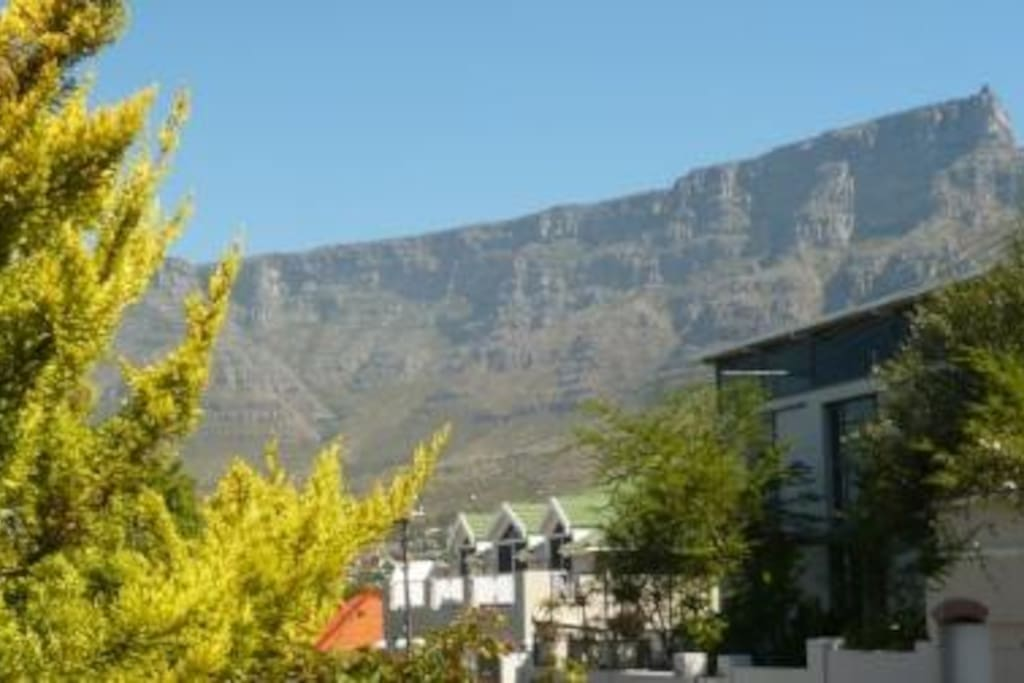 Awesome Table mountain from your verandah.
