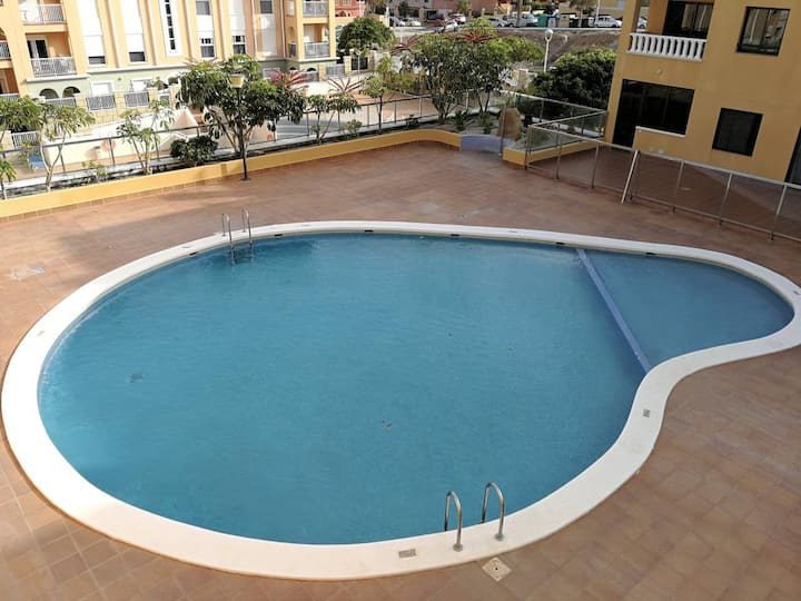 Beach, pool, terrace and parking