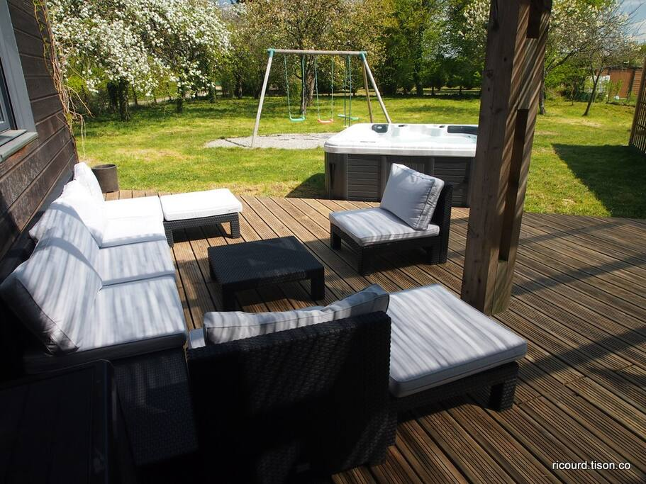 Salon de jardin modulable de 8 places