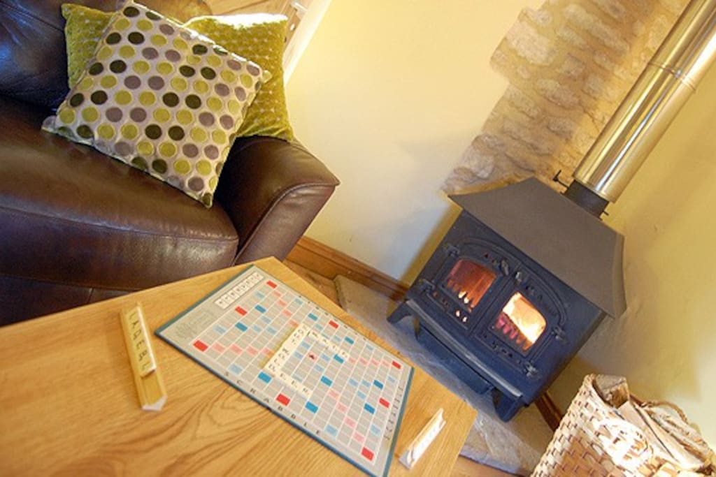 Scrabble by the Cozy Log Burner