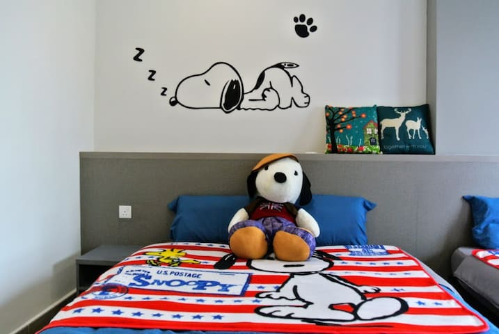 Octagon Snoopy Homestay (4~6 pax) @ Town Area