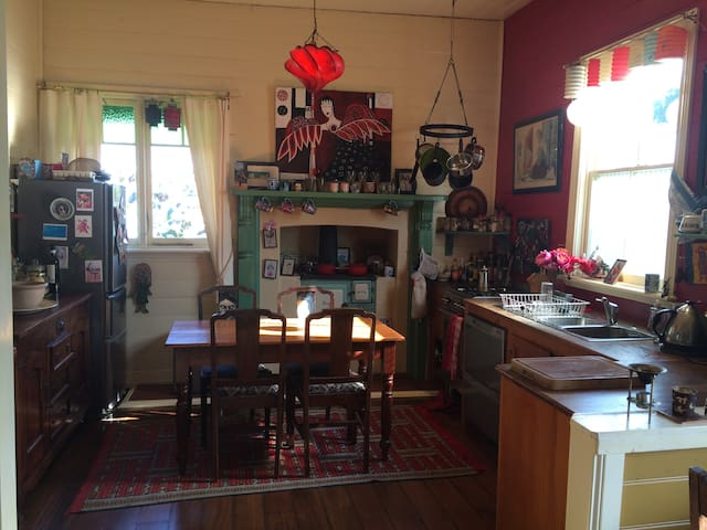 Quirky 1850's haberdashery shop twin share