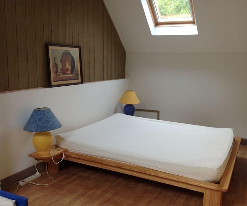 Chambre lit double, intimité !