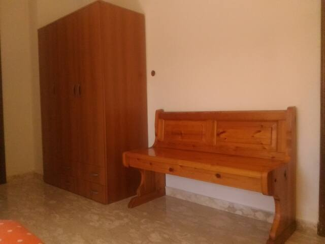 Wardrobe and chest in the bedroom