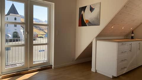 """Eiði. """" Vaglið"""" a cute house in Eiði."""