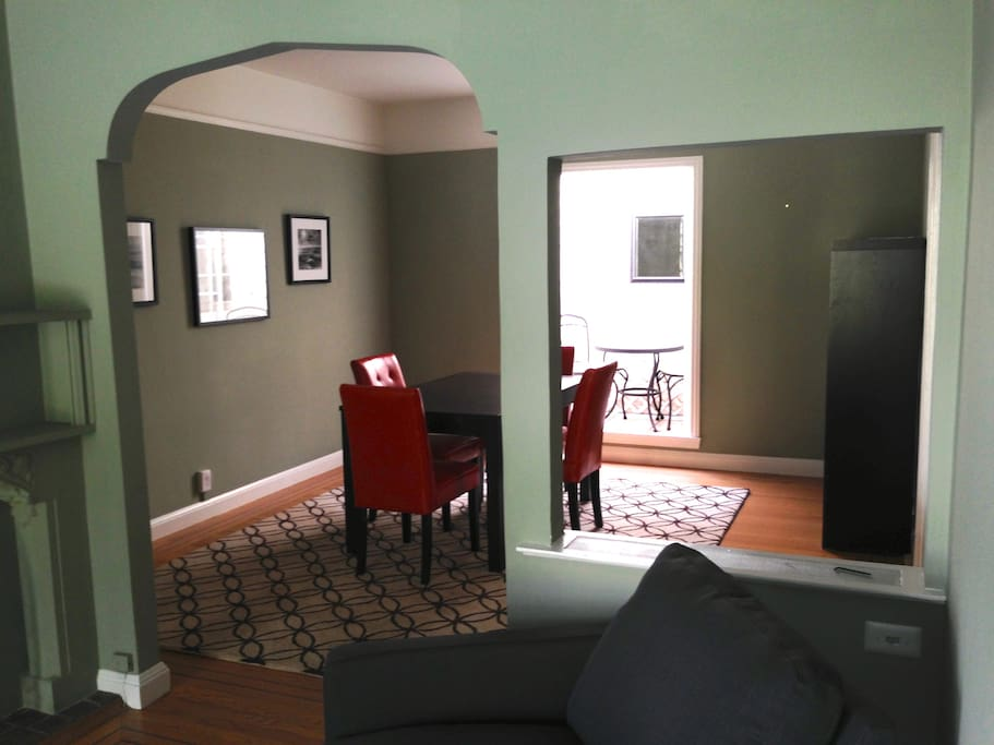 Victorian trim for character, yet open and modern