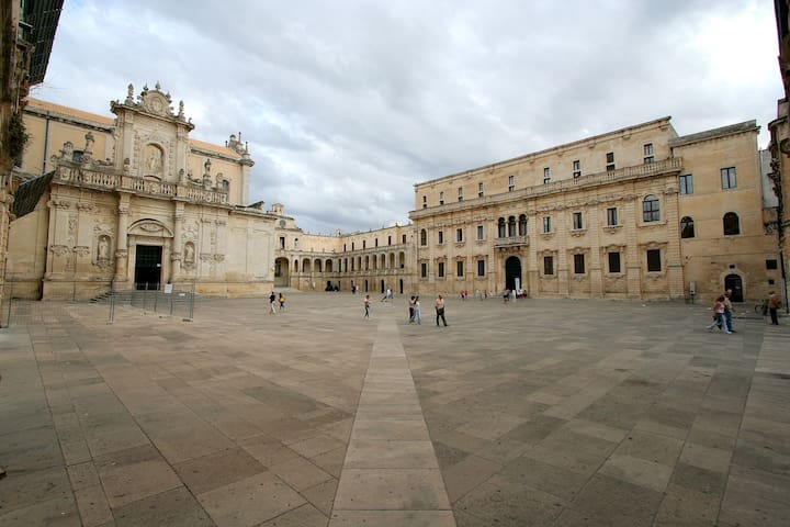 In the historical center of Lecce