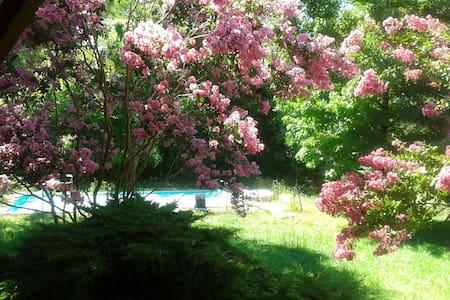 Chambre avec vue jardin et piscine - Lacroix-Falgarde - Hus