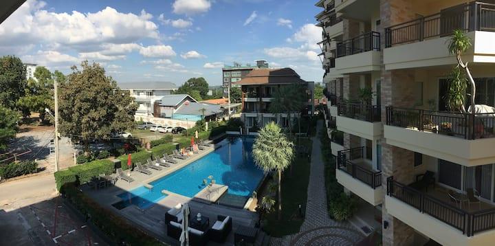 Private condo with balcony