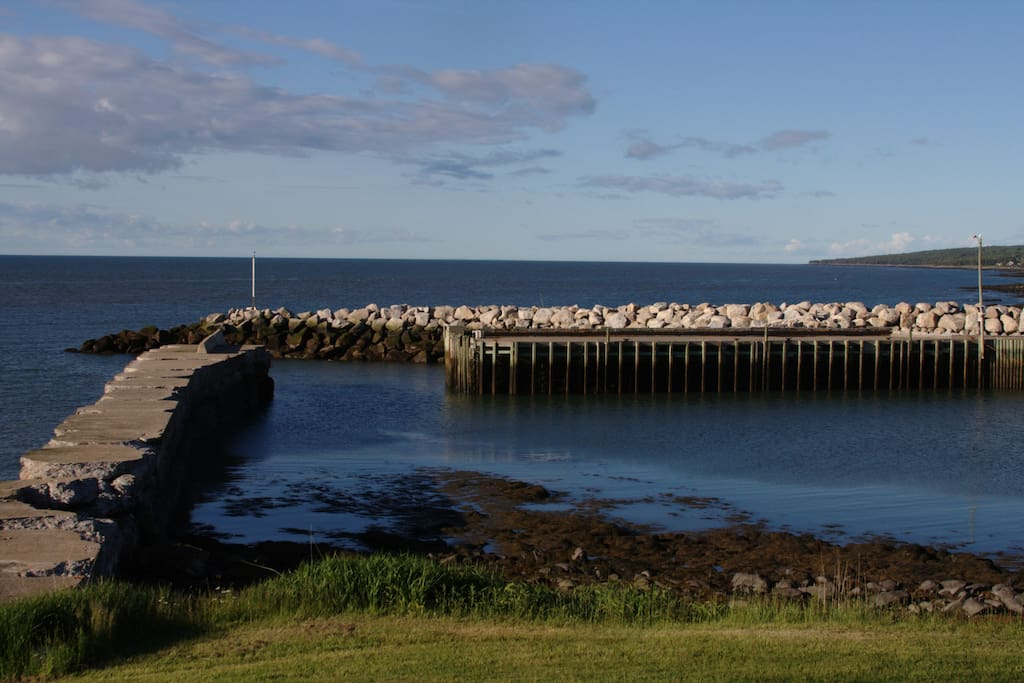 View of the breakwater from the front porch.