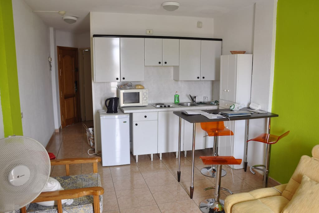 kitchen in the living