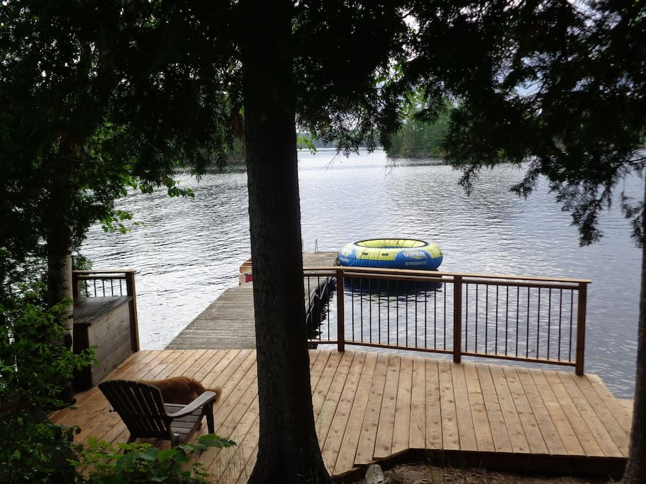 The dock is the perfect spot for canoeing, swimming or fishing.