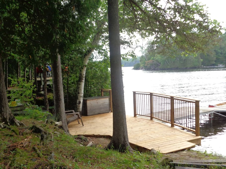 The dock is also a great place to sit and read.