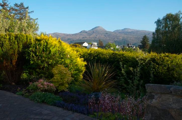 View of Sgurr na Coinnich from entrance door at Ardenlea