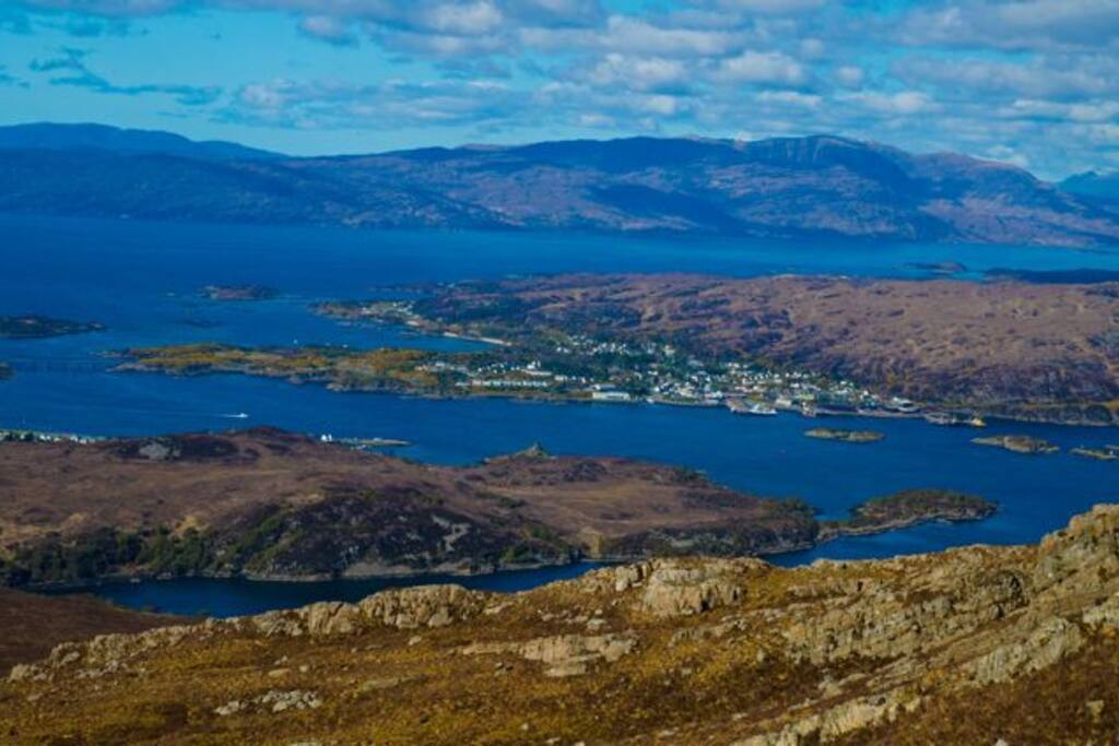 View of Kyle of Lochalsh from Sgurr na Coinnich