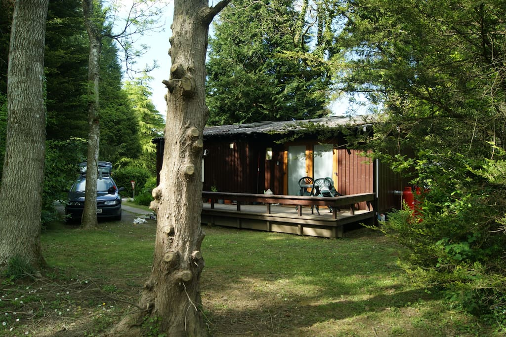 although on holiday park Pippy Lluest benefits from good setting to optimise privacy and space.