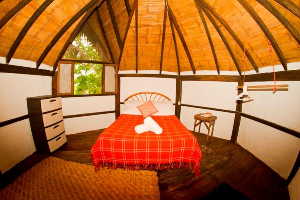 habitación principal cabaña