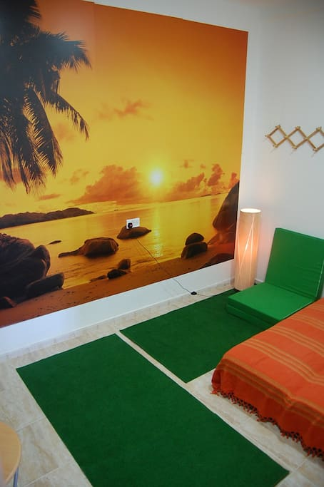 THE YOGA ROOM it is inside our Yoga Center with FREE WI-FI and private bathroom. It is simple, clean and quiet place.
