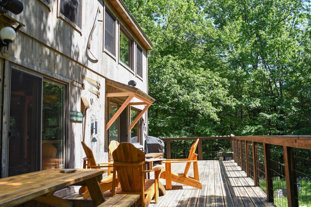Deck Delight...with a view of the Pond.