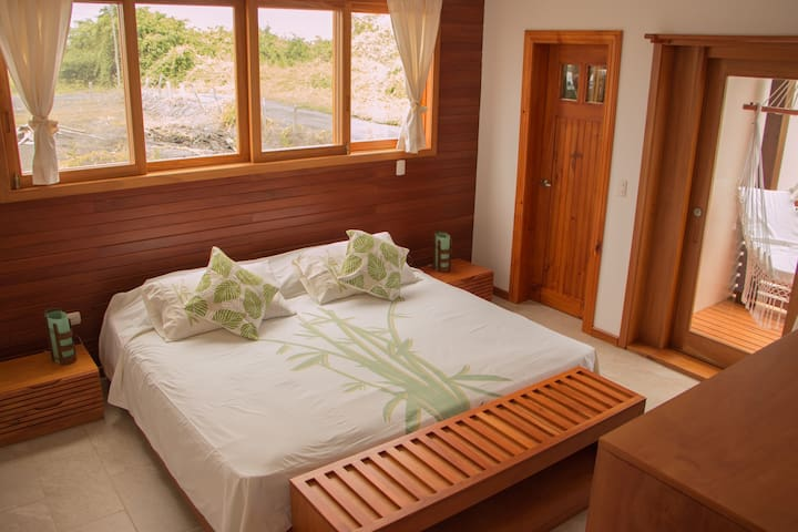 Room 1 - King Size bed with separate bathroom and terrace