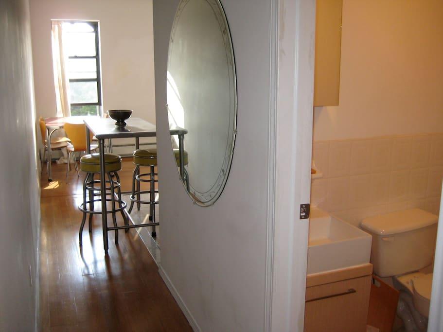 Entrance hallway and bathroom