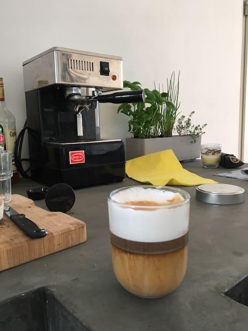 Good espresso will make your day!!