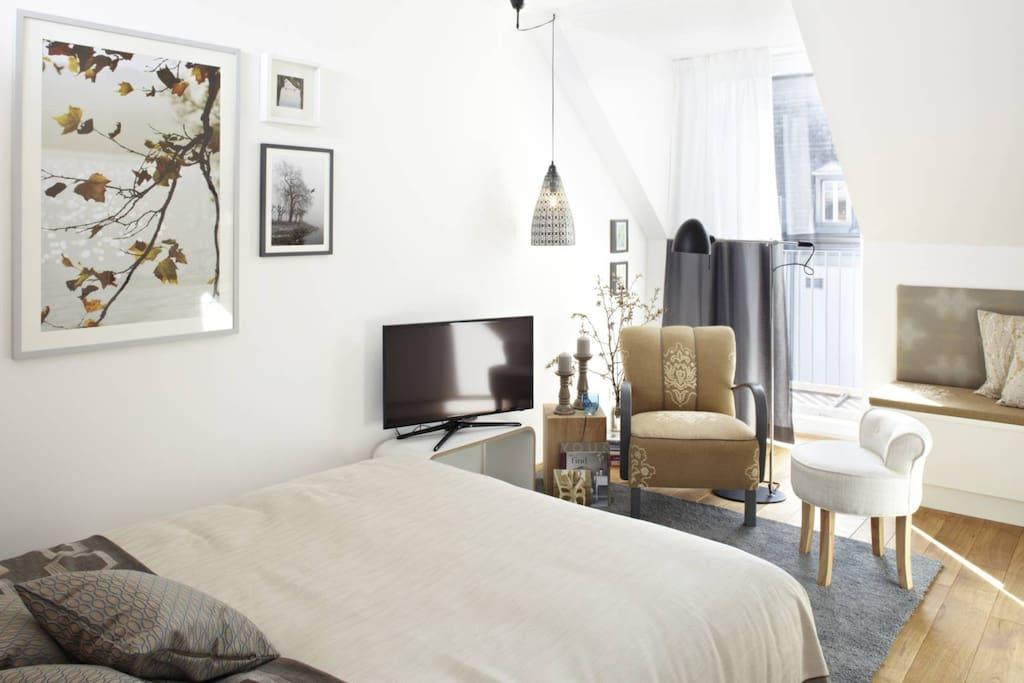 kuschelnest f r ein zwei personen wohnungen zur miete. Black Bedroom Furniture Sets. Home Design Ideas